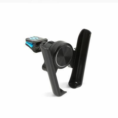 Szellőzőrácsra rögzíthető telefontartó (fekete)