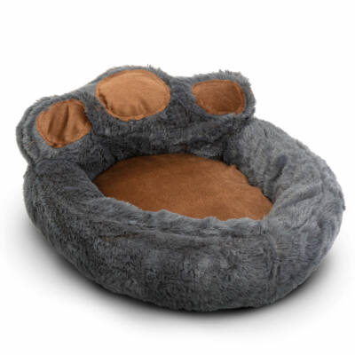 Mancs alakú kutyafekhely (XL méret, Szürke, barna)