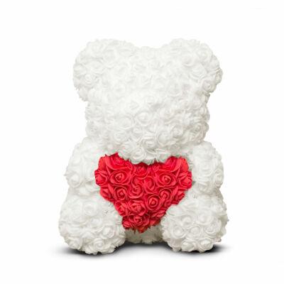 Rózsamaci (fehér, piros, 40 cm)