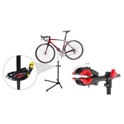 Kerékpár javító állvány ajándék szerszámtartóval