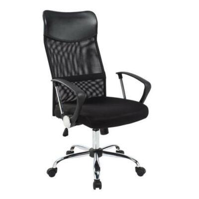 Ergonomikus irodai szék magasított háttámlával (fekete)