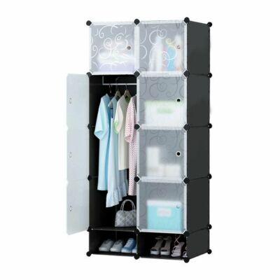 Műanyag elemes szekrény (fekete)