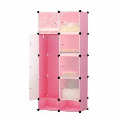 Műanyag elemes szekrény (rózsaszín)
