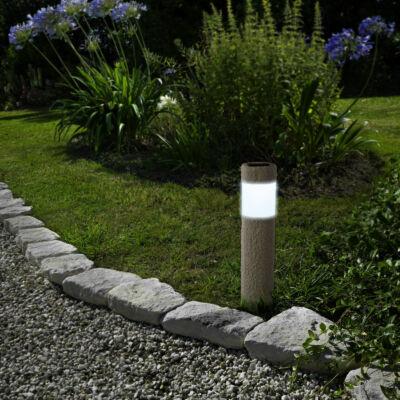 LED-es napelemes lámpa (kőmintás, műanyag)