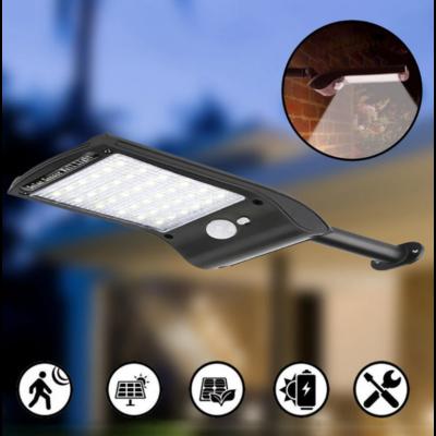 Napelemes falra szerelhető LED lámpa mozgásérzékelővel
