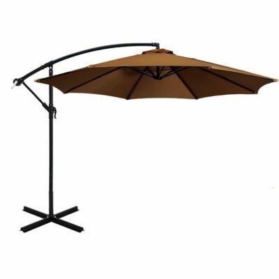Függő napernyő, (2,7 m, khaki)