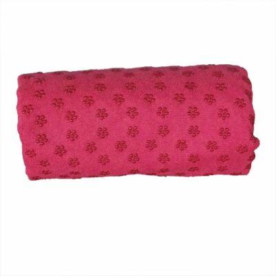 Csúszásgátlós jóga törölköző, ajándék táskával (rózsaszín)