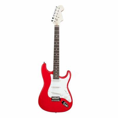 Elektromos gitár szett kezdőknek, ajándék erősítővel (piros-fehér)