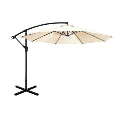 Függő napernyő (2,7 méter, krém szín)