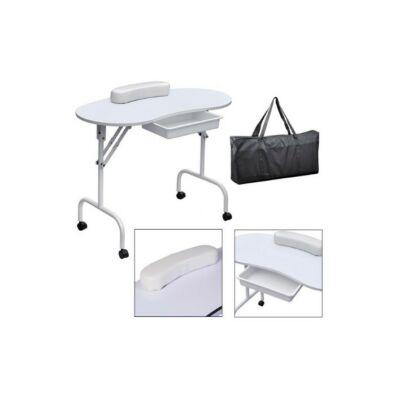 Manikűr asztal hordtáskával (fehér)