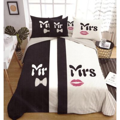 6 részes Sendia Mr&Mrs pamut ágyneműhuzat garnitúra (SND-6RMR-KOCKF)