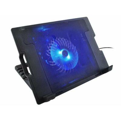 Állítható dőlésszögű laptop tartó beépített ventilátorral