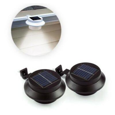 Napelemes ereszcsatorna lámpa (fekete, 2 darabos csomag)