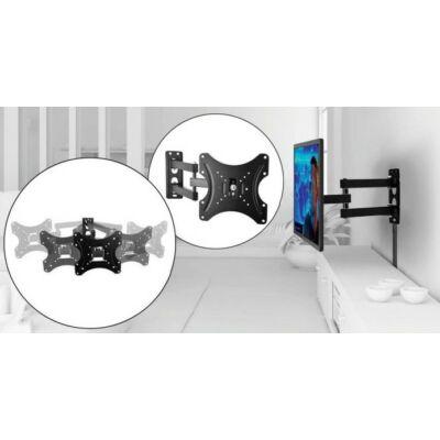 Falra rögzíthető, kihajtható TV tartó konzol  (14-42'')