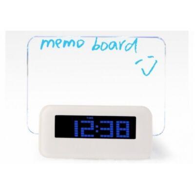 LED üzenőfalas óra (Fehér)