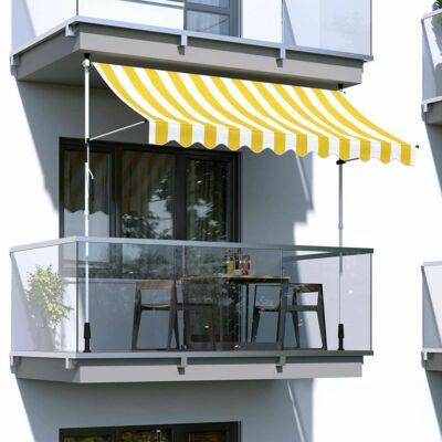 Feltekerhető napellenző, sárga csíkos (350x120 cm)