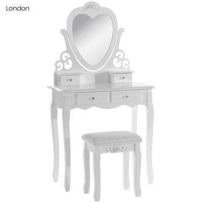 Fésülködő asztal London (fehér)