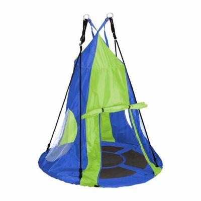 Fészekhinta sátorral (90 cm, kék)