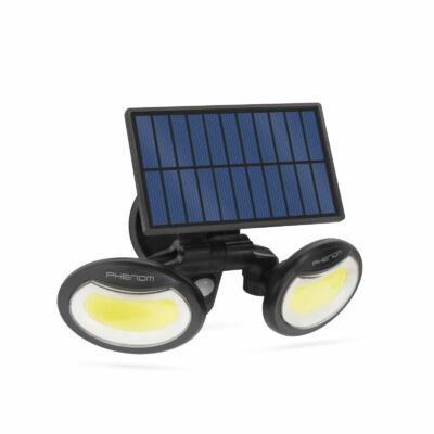 Mozgásérzékelős szolár reflektor (forgatható fejjel, 2 COB LED)