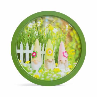 Tavaszi tálca (fém, 31 cm)