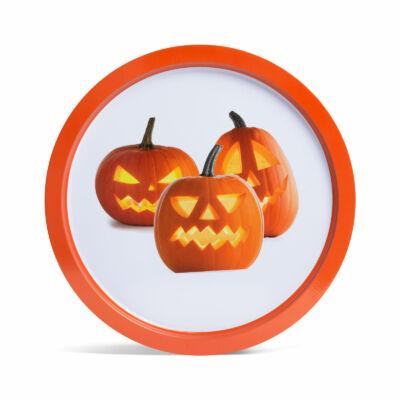 Halloween-i tálca (tök, fém, 31 cm)