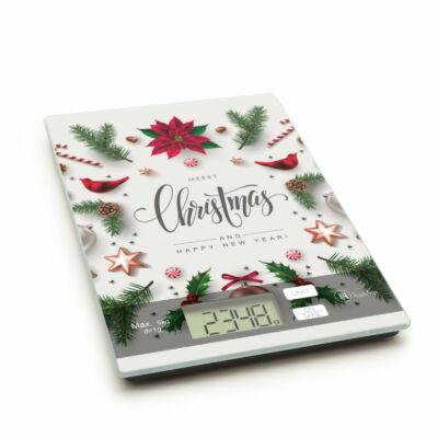 """Konyhai mérleg (karácsonyi, """"Christmas"""")"""