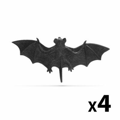 Denevér szett (halloween-i dekoráció, fekete, 4 db / csomag)