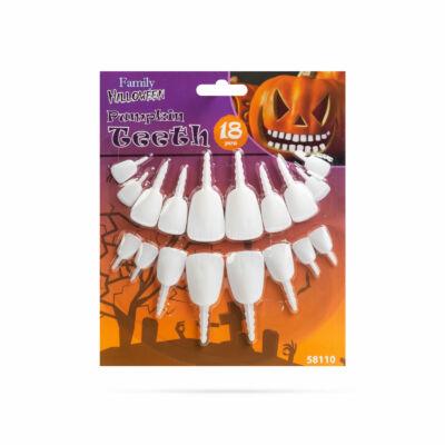Halloween-i töklámpás fogak (18 fog / csomag)