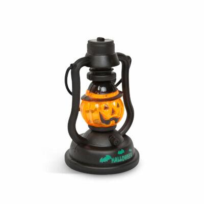 Halloween-i LED lámpa kacagás hangeffekttel (tök, elemes)