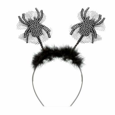 Halloween-i hajráf (csillogós pók)
