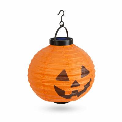 Halloween-i szolár lampion (tök, 20 cm)