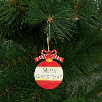 Karácsonyfadísz, gömb (akasztható, 8 x 10 cm)