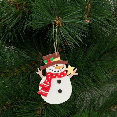 Karácsonyfadísz, hóember (akasztható, 8,2 x 10 cm)