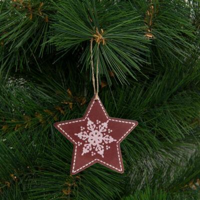 Karácsonyfadísz, csillag (akasztható, 9,6 x 9,3 cm)