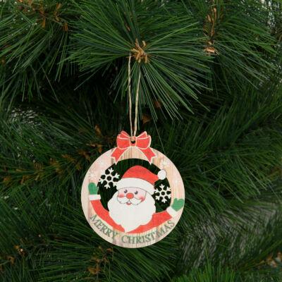Karácsonyfadísz, mikulás (akasztható, 8,5 x 9,5 cm)