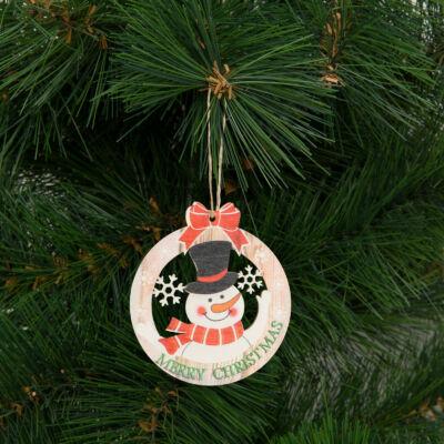 Karácsonyfadísz, hóember (akasztható, 8,5 x 9,5 cm)
