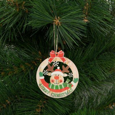 Karácsonyfadísz, rénszarvas (akasztható, 8,5 x 9,5 cm)