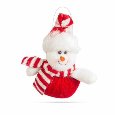Karácsonyi dekor, hóember (14 x 16 cm)