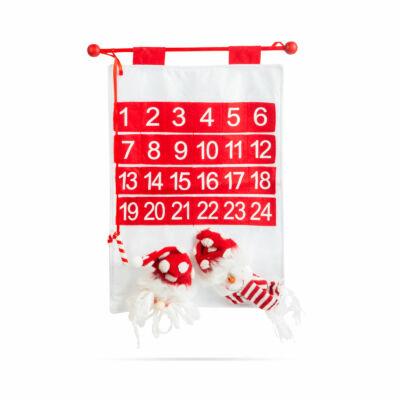 Adventi naptár (mikulás, hóember - 50 x 39 cm)