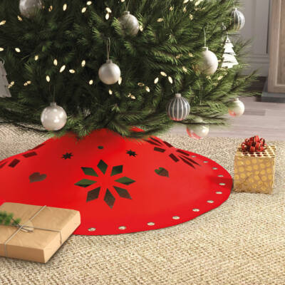 Karácsonyfa alá terítő (90 cm x 3 mm, filc, piros)