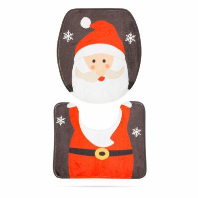 Karácsonyi WC ülőke dekor (mikulás mintával)