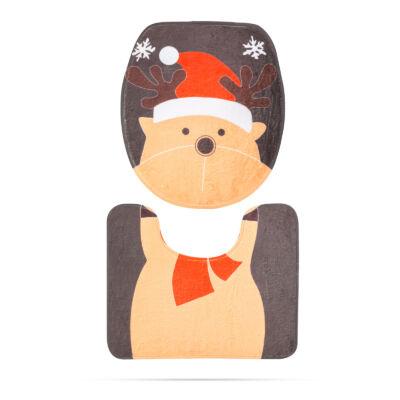 Karácsonyi WC ülőke dekor (rénszarvas mintával)