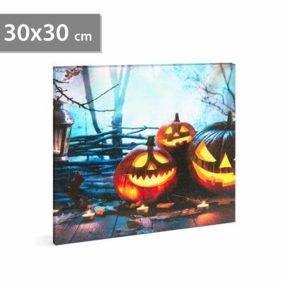 Halloween-i LED-es hangulatkép fali akasztóval (2 x AA, 30 x 30 cm)
