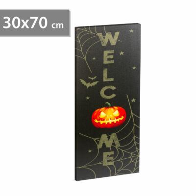 Halloween-i LED-es hangulatkép fali akasztóval (2 x AA, 30 x 70 cm)