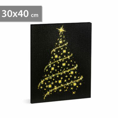 Karácsonyi LED-es hangulatkép fali akasztóval (2 x AA, 30 x 40 cm)