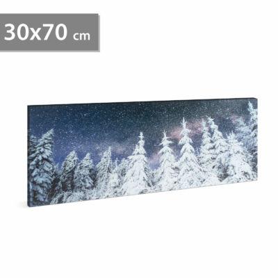 LED-es fali hangulatkép - fenyves (2 x AA, 70 x 30 cm)