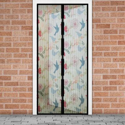 Mágneses szúnyogháló függöny ajtóra (100 x 210 cm, madár mintás)