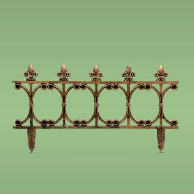 Virágágyás szegély / kerítés (63 x 33,5 cm, műanyag)