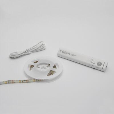LED szalag mozgásérzékelővel  (elemes, 100 cm)