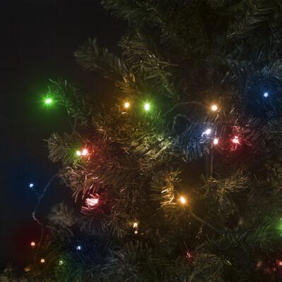 Fényfüzér LED (10 méter, színes, hálózati, 8 program)
